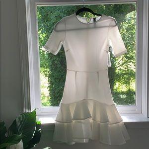 A beautiful white dress.